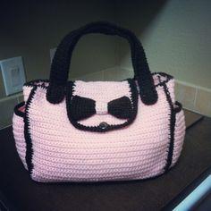 Crochet diaper bag... No pattern just inspiration
