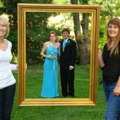 found this idea on here, so we used for prom pics...one shot with both mothers, one shot with both fathers and one with each set of parents.