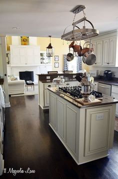 Kitchen Ideas Off White Cabinets new paint in our kitchen | copper accents, french country kitchens
