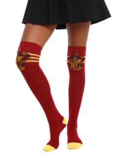 Harry Potter Gryffindor Over-The-Knee Socks from HotTopic.com
