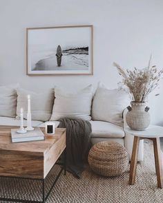 Living Room White, Boho Living Room, White Rooms, Interior Design Living Room, Home And Living, Living Room Designs, Living Spaces, Small Living, Cozy Living