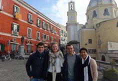 Juliano, Laetitia, Arnault et Mercedes à Procida