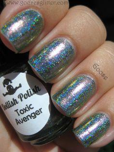 Dollish polish - toxic avenger ,  Goose's Glitter