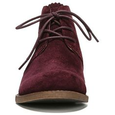Women's Franco Sarto 'Heathrow' Lace Up Bootie (6,425 PHP) ❤ liked on Polyvore featuring shoes, boots, ankle booties, suede bootie, suede lace up ankle booties, franco sarto boots, short boots and ankle boots