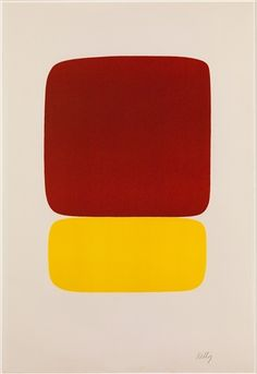 Red over Yellow by Ellsworth Kelly at Susan Sheehan Gallery (IFPDA) - Printed Editions - Ref 54873 Ellsworth Kelly, Mondrian, Black Square Painting, Post Painterly Abstraction, Postmodern Art, Catalogue Raisonne, Hard Edge Painting, Paintings For Sale, Abstract Expressionism