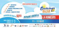 SUMMER BAZAR - Targ estival de bunuri de larg consum, la ROMEXPO! Va asteptam la SUMMER BAZAR, EDITIA (II), intre 11 si 13 iulie, 2014! O briza de produse cool pentru o vara hot!