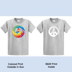 Color Changing Frogs Printed Tees Solar Graphics These Balancing Peace Sign With Color On Inside