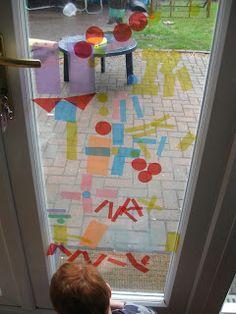 Celophane Window Art! | Pre-school Play