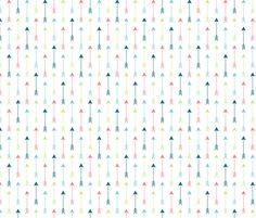 Colourful Arrows Vertical fabric by sierra_gallagher on Spoonflower - custom fabric
