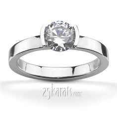 my perfect ring Tension Set Solitaire Engagement ring