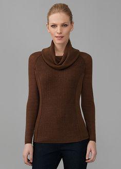 Fine Gauge Merino Textured Panel Sweater