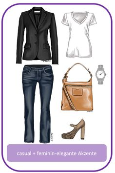 Stil-Mix-Outfit: Casual #Outfit mit femininen, eleganten Akzenten; www.modefluesterin.de - #casual #40plus #feminin