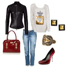 Women's outfit ideas - date night - girl's night out - movie night - red patent leather handbag - red patent leather pumps - coco chanel
