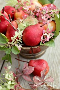 If you are looking for some amazing Fall and Thanksgiving DIY Projects to create.then take a peek at these Fall and Thanksgiving DIY Projects! L'art Du Fruit, Fruit Art, Fruit And Veg, Fruits And Vegetables, Fresh Fruit, Red Pear, Pear Blossom, Fall Fruits, Thanksgiving Diy