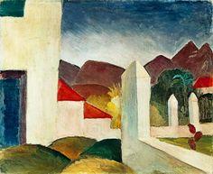 Auguste Macke, Tunisian Landscape. 1914. Oil Canvas