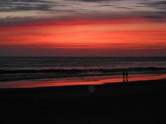 Sunset at Herring Cove -Excellent Cape Cod Beach Guide right here- from Cape Cod Beach Chair Company