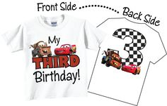 3rd Birthday Shirts for Boys with Trucks and Car by TheCuteTee, $14.95
