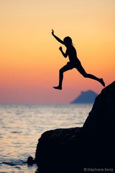 'Silhouette' Jump - Matala, Greece by Stéphane Berla