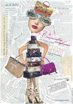 тётки в городе/city girl  my author cards you can buy мои авторские открытки вы можете купить