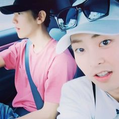 Baekhyun IG Update with Xiumin ❤ Hawaii you #Drive #Hawaii (tbvh I lowkey ship them hehe) #EXO