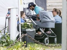 Prince Carl Philip and Princess Sofia dining out on vacation