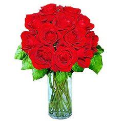 12 Short Stem Red Roses