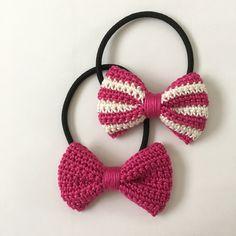 Ribbon Hairclip 🎀 Made by order Warna mix ( min order 2 pcs ) Material : cotton Crochet Hair Clips, Crochet Bows, Crochet Hair Styles, Crochet Flowers, Crochet Stitches, Crochet Bow Pattern, Crochet Bedspread Pattern, Easy Crochet Patterns, Crochet Designs