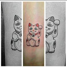 My lucky cat tattoo