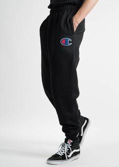 9ba7b967319c4 New Champion Mens Black Reverse Weave Three Pocket Jogger Sweatpants Size  XL  Champion  CasualPants