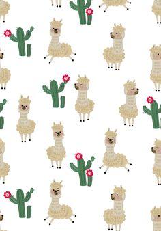 Wallpaper lhama baby; alpaca; llama; cactos; Cute Wallpaper Backgrounds, Pattern Wallpaper, Computer Wallpaper, Cute Wallpapers, Iphone Wallpaper, Alpacas, Llamas Animal, Llama Gifts, Walpaper Iphone