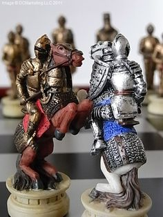 Medieval Warrior Themed Chess Set