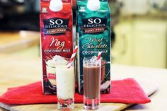 Coconut Milk Nog and Mint Chocolate Coconut Milk—We can't wait until the holidays roll around again!