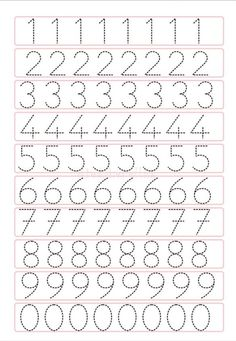 Trace the Dotted Lines Worksheets for Kids - Preschool and Kindergarten Letter Tracing Worksheets, Printable Preschool Worksheets, Kindergarten Math Worksheets, Tracing Letters, Free Printable, Kindergarten Homework, Number Tracing, Printable Shapes, Printable Alphabet Letters