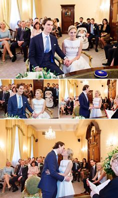 Civil wedding ceremony photos from the Brydon Room at Chelsea Register Office.                                                                                                                                                                                 Más