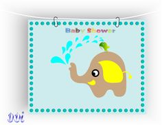 I'm selling Baby Shower time - wall art - nursery - £5.00 #onselz