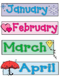 printable months