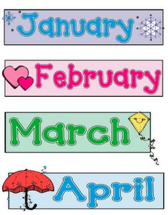image relating to Free Printable Months of the Year titled printable weeks -