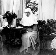 Tatiana in a nurse uniform during WWI