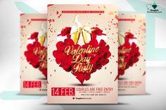 Download Valentine Day Flyer Photoshop PSD Free | Graphix Freebies