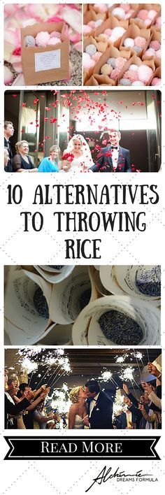 10 alternatives to throwing rice
