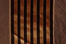 10 Yards Robert Allen Beacon Hill Velvet Lane Silk & Velvet Stripe Decorator Fabric in Bark