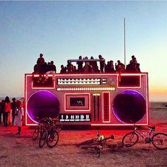 Boom box Burning Man Black ROCK Desert