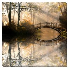 Bridge Reflection Oversized Gallery Wrapped Canvas - Overstock™ Shopping - Top Rated Gallery Direct Canvas
