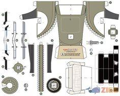 Ford Conversível Cabriolet Papertoy