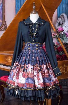 Tululu -Vampire Cats- Lolita High Waist Skirt