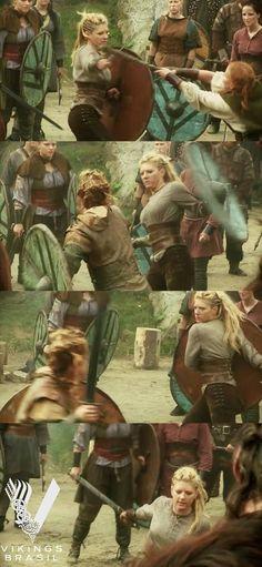 Shieldmaiden Lagertha in action