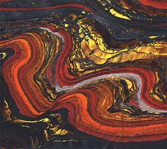 Australia: Mesoarchean banded iron from about 2.8 billion years ago.