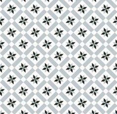 Carrelage imitation ciment étoile grise et noire 20x20 cm CALVET