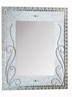 Large Decorative Mosaic Mirror Bathroom Mirror by RoxannesMirrors