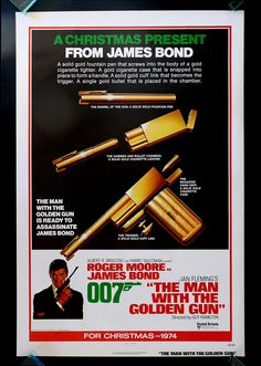 """The Man with the Golden Gun"" (1974) / Director: Guy Hamilton / Writers: Richard Maibaum (screenplay), Tom Mankiewicz (screenplay) / Stars: Roger Moore, Christopher Lee, Britt Ekland #poster"